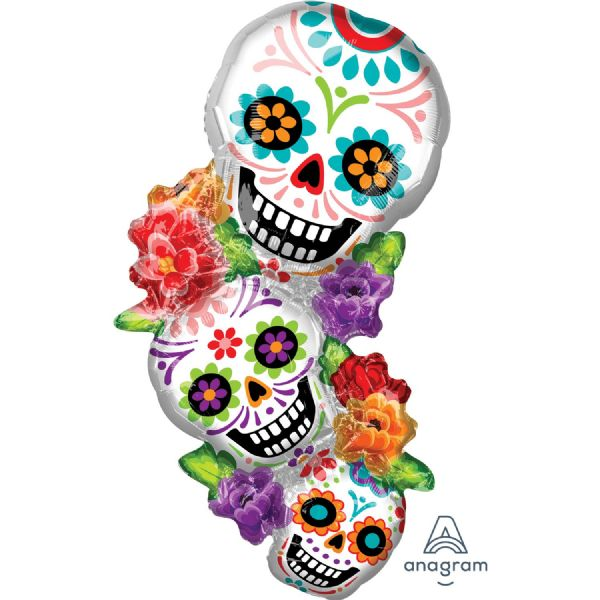 Sugar Skulls Stack SuperShape Foil Balloon